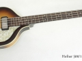 Hofner 500/1 Cavern Bass, 2010 full front view