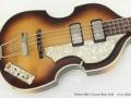 Hofner 500/1 Cavern Bass, 2010 top