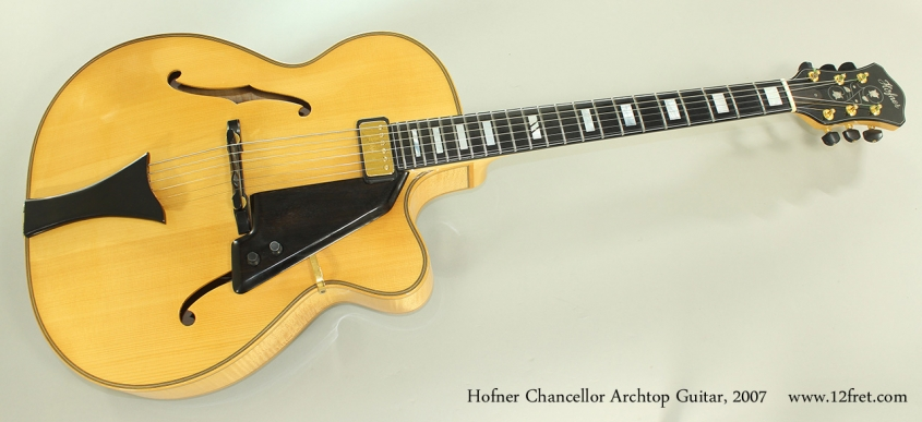 Hofner Chancellor Archtop Guitar, 2007 Full Front View