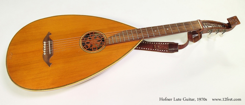 Hofner Lute Guitar, 1970s Full Front View