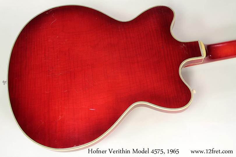 Hofner model 4574 verithin 1965 back