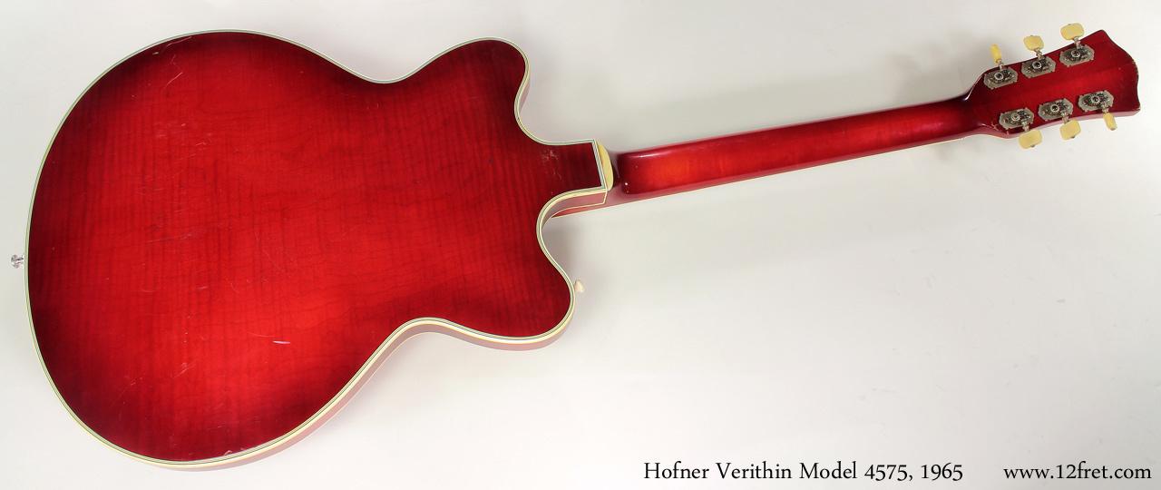 Hofner model 4574 verithin 1965 full rear view