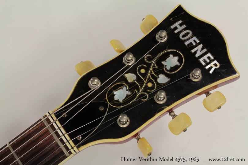 Hofner model 4574 verithin 1965 head front