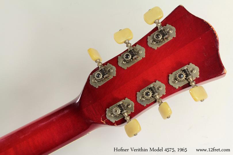 Hofner model 4574 verithin 1965 head rear