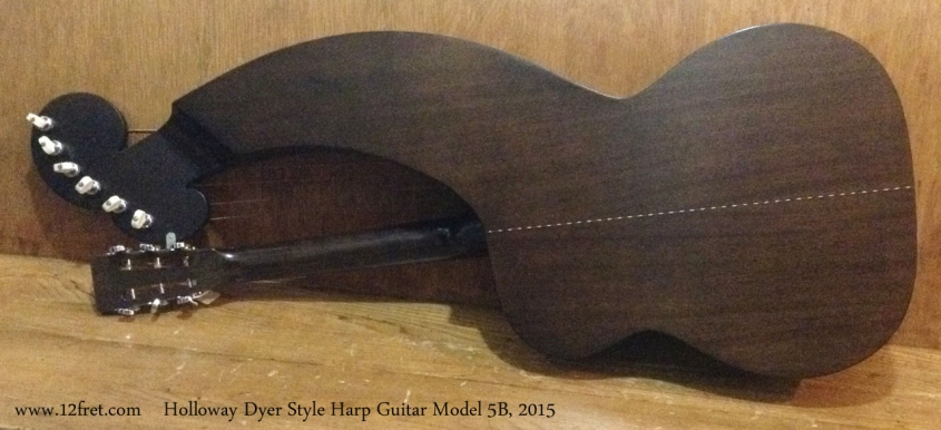 Holloway Dyer Style Harp Guitar Model 5B, 2015 Full Rear View