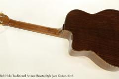 Bob Holo Traditional Selmer-Busato Style Jazz Guitar, 2016  Full Rear View