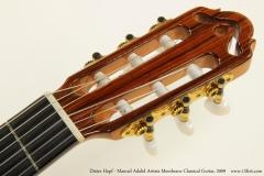 Dieter Hopf - Manuel Adalid Artista Membrane Classical Guitar, 2009  Head Front View