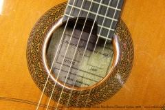 Dieter Hopf - Manuel Adalid Artista Membrane Classical Guitar, 2009  Label View