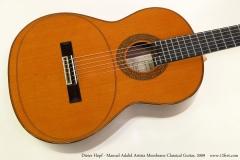 Dieter Hopf - Manuel Adalid Artista Membrane Classical Guitar, 2009  Top View