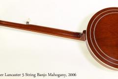 Huber Lancaster 5 String Banjo Mahogany, 2006 Full Rear View