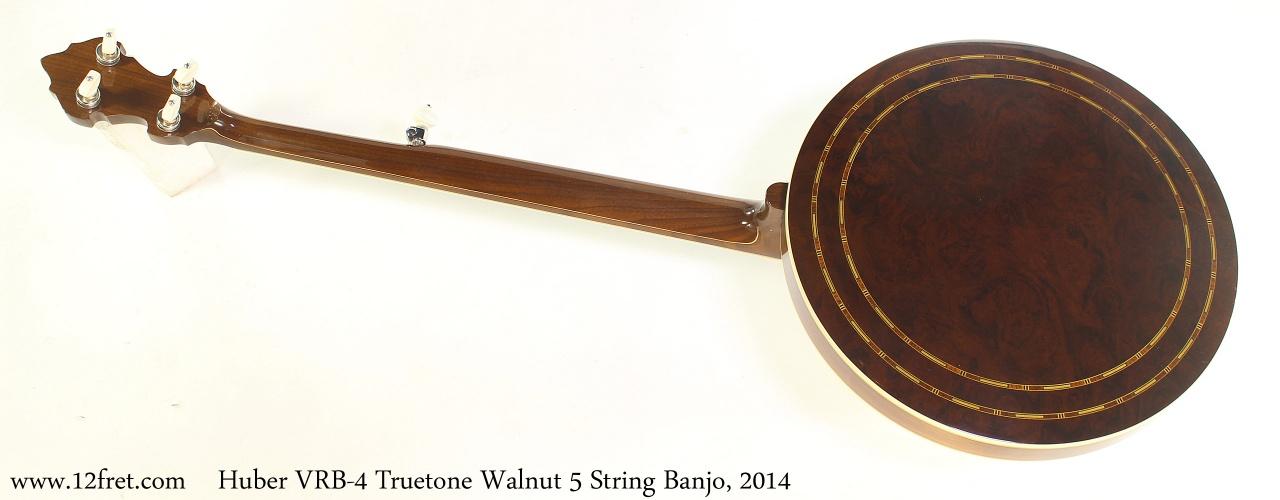 Huber VRB4 Truetone Walnut 5 String Banjo, 2014 Full Rear View