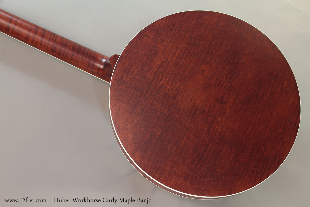 Huber Workhorse Curly Maple Banjo Back