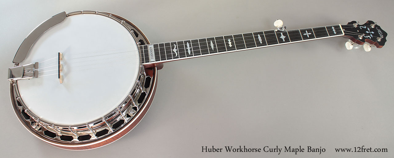 Huber Workhorse Curly Maple Banjo Full Front View