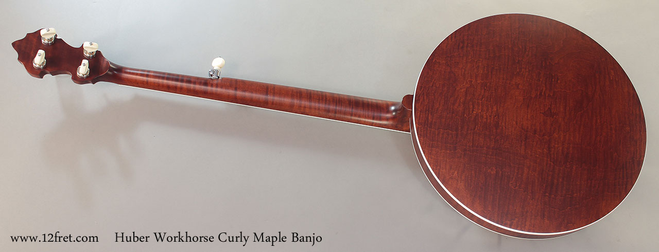 Huber Workhorse Curly Maple Banjo Full Rear View