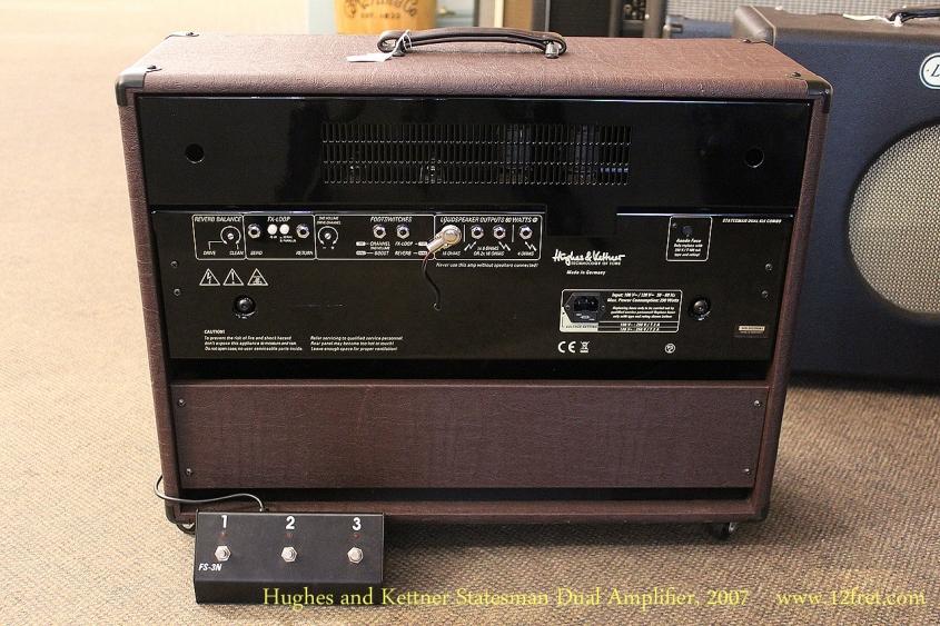 Hughes and Kettner Statesman Dual Amplifier, 2007 Full Rear View