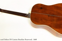 Huss and Dalton DS Custom Brazilian Rosewood,  2008  Full Rear View