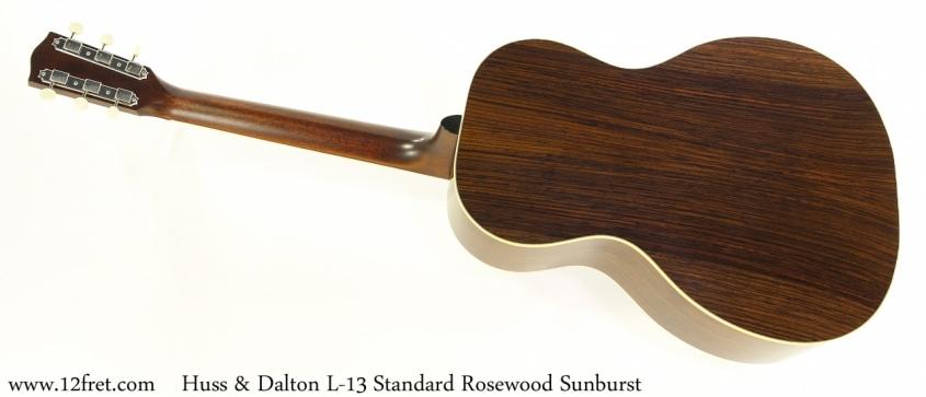 Huss & Dalton L-13 Standard Rosewood Sunburst Full Rear View