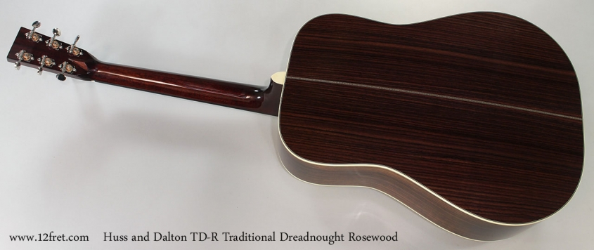 Huss and Dalton TD-R Traditional Dreadnought Rosewood Full Rear View