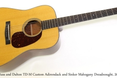 Huss and Dalton TD-M Custom Adirondack and Sinker Mahogany Dreadnought, 2014   Full Front View