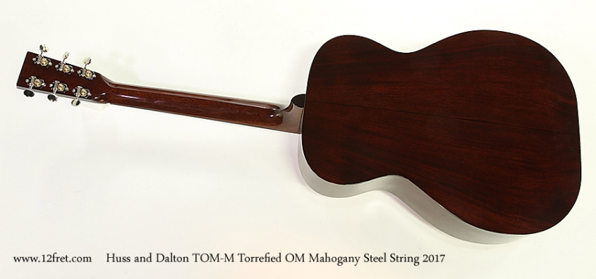 Huss and Dalton TOM-M Torrefied OM Mahogany Steel String 2017 Full Front View