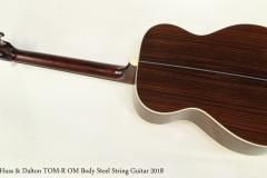 Huss & Dalton TOM-R OM Body Steel String Guitar 2018 Full Rear View