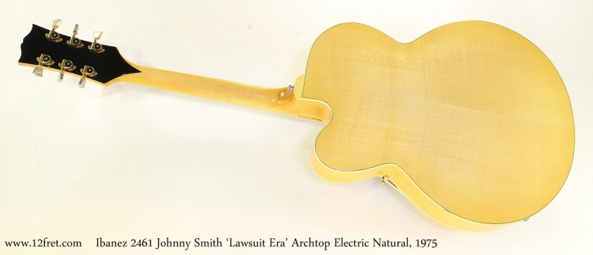 Ibanez 2461 Johnny Smith 'Lawsuit Era' Archtop Electric Natural, 1975 Full Rear View