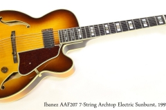 Ibanez AAF207 7-String Archtop Electric Sunburst, 1997   Full Front View