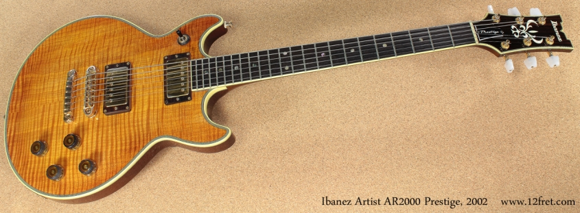 Ibanez Artist AR2000 Prestige 2002 full front view