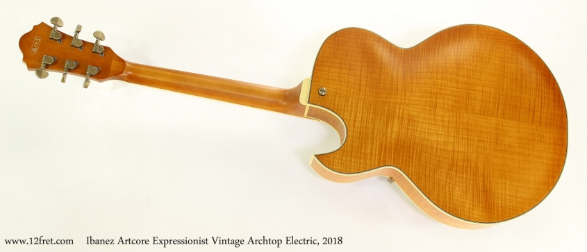 Ibanez Artcore Expressionist Vintage Archtop Electric, 2018  Full Rear View