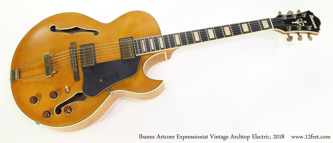 Ibanez Artcore Expressionist Vintage Archtop Electric, 2018  Full Front View