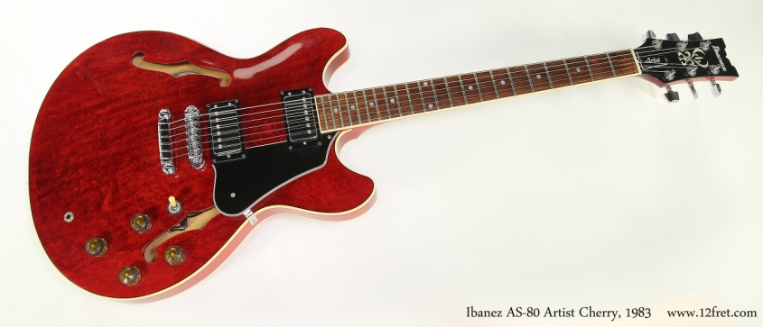 Ibanez AS-80 Artist Cherry, 1983  Full Front View