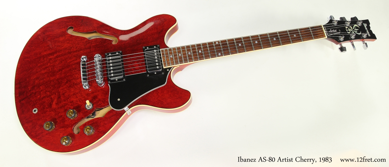ibanez as80 artist thinline electric cherry 1983. Black Bedroom Furniture Sets. Home Design Ideas