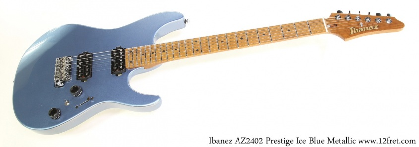 Ibanez AZ2402 Prestige Ice Blue Metallic Full Front View