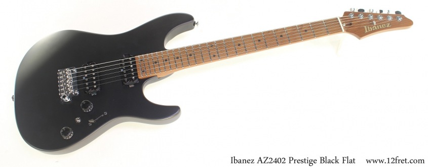 Ibanez AZ2402 Prestige Black Flat, Full Front View