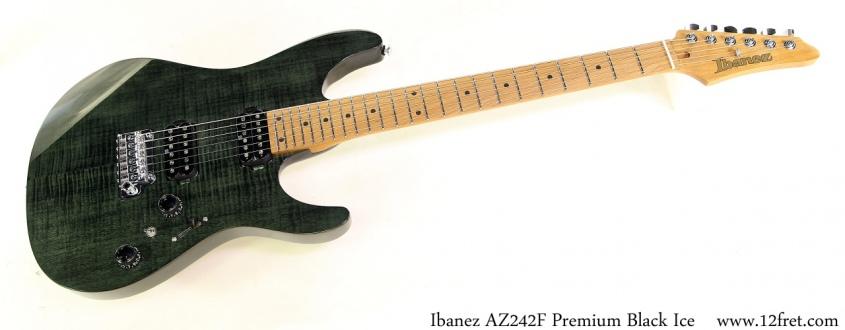 Ibanez AZ242F Premium Black Ice Full Front View