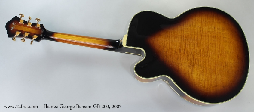 Ibanez George Benson GB-200, 2007 Full Rear View