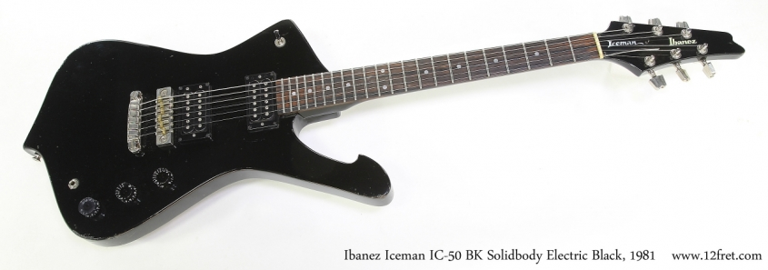 Ibanez Iceman IC-50 BK Solidbody Electric Black, 1981 Full Front View