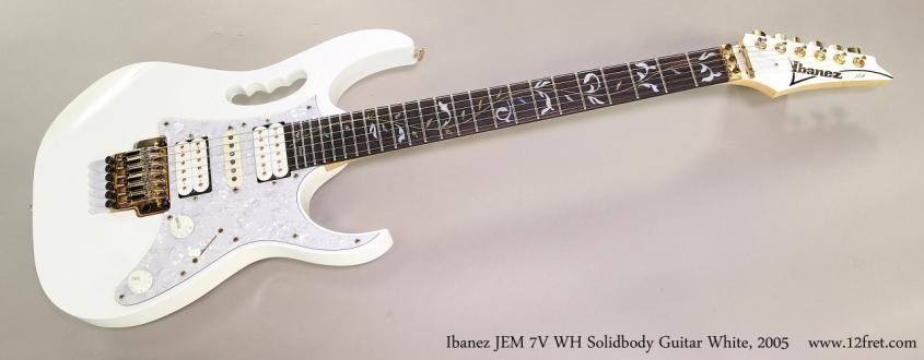 Ibanez JEM 7V WH Solidbody Guitar White, 2005 Full Front View