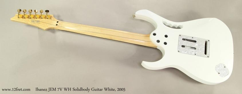 Ibanez JEM 7V WH Solidbody Guitar White, 2005 Full Rear View