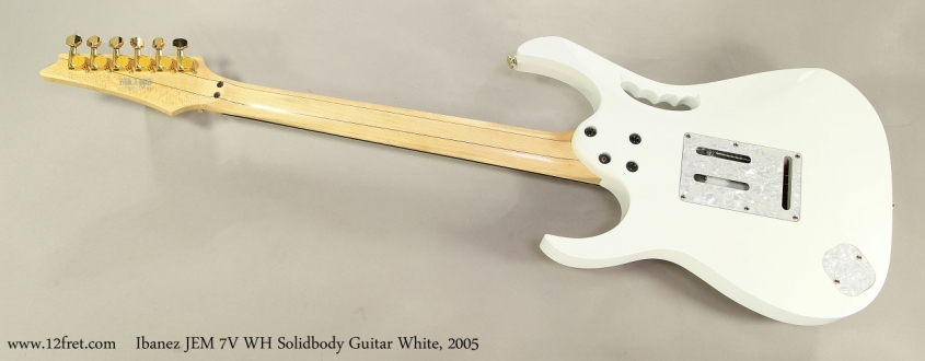 Ibanez JEM 7V WH Solidbody Guitar White, 2005 Full Rear View
