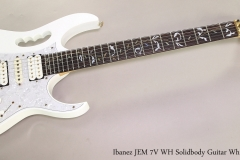 Ibanez JEM 7V WH Solidbody Guitar White, 2005 Full Front View