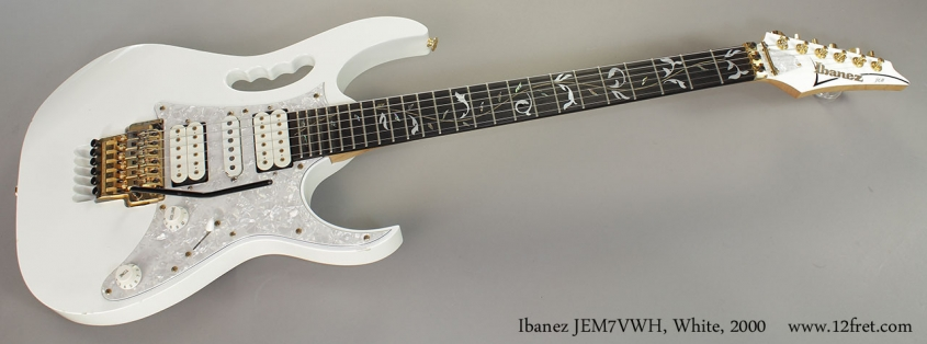 Ibanez JEM7VWH, White, 2000 Full Front View