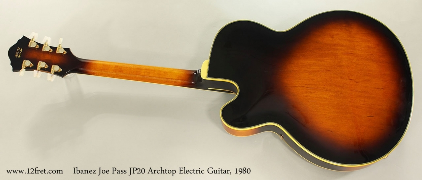 Ibanez Joe Pass JP20 Archtop Electric Guitar, 1980 Full Rear View