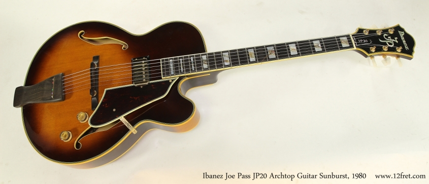 Ibanez Joe Pass JP20 Archtop Guitar Sunburst, 1980  Full Front View