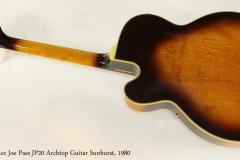 Ibanez Joe Pass JP20 Archtop Guitar Sunburst, 1980  Full Rear View