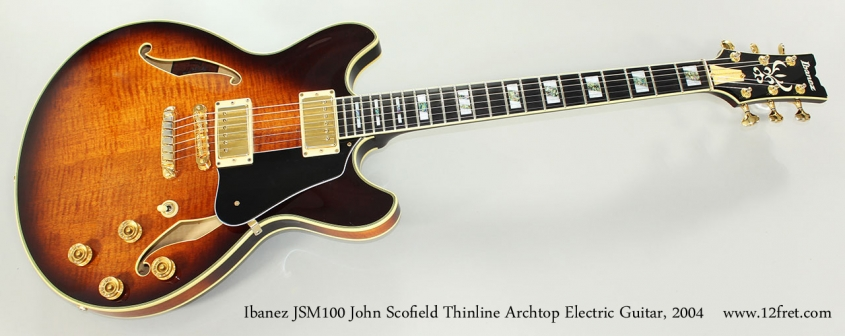 Ibanez JSM100 John Scofield Thinline Archtop Electric Guitar, 2004 Full Front View