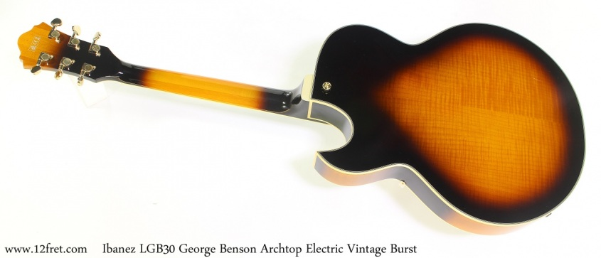 Ibanez LGB30 George Benson Archtop Electric Vintage Yellow Burst Full Rear View