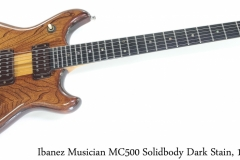 Ibanez Musician MC500 Solidbody Dark Stain, 1979 Full Front View