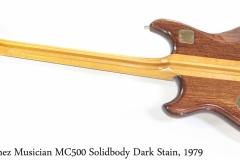 Ibanez Musician MC500 Solidbody Dark Stain, 1979 Full Rear View