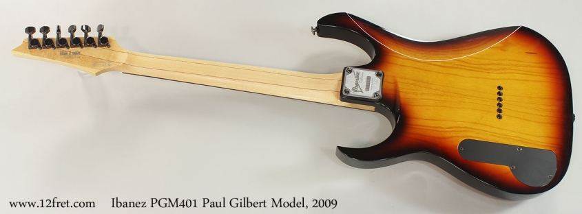 Ibanez PGM401 Paul Gilbert Model, 2009 Full Rear View